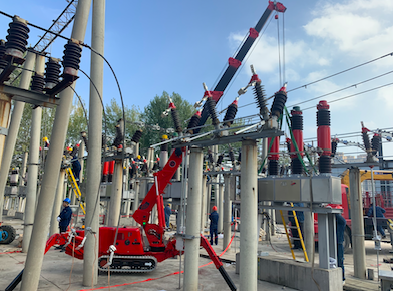 spider crane for transformer substation maintenance