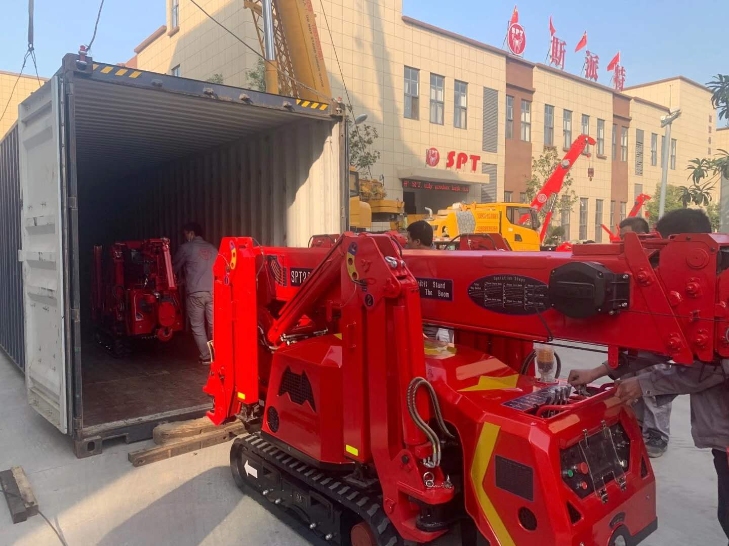 SPT299 mini crawler crane