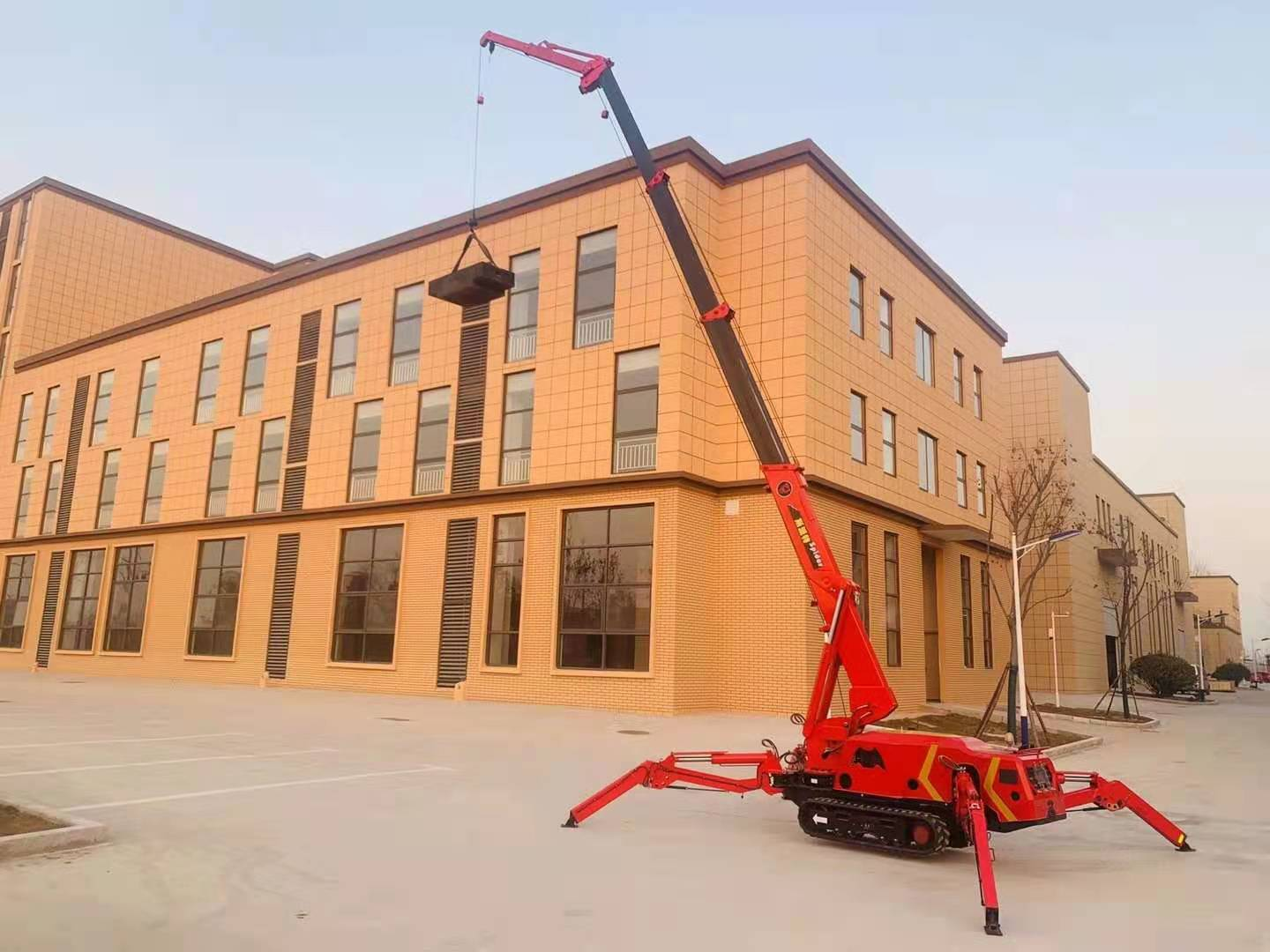 SPT299 spider crane with fly jib